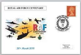 Centenary RAF Royal Air Force Aviation Aircraft Postal Card 150 X 100mm - Altri