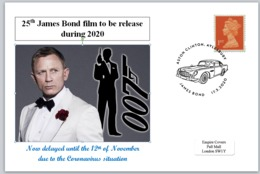2020 25th James Bond Film Daniel Craig 007 Aston Martin Cars Spy Cinema Films - FDC