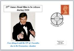 2020 25th James Bond Film Roger Moore 007 Cars Spy Cinema Films - FDC