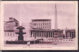 C. Postale - Roma - Piazza S. Pietro E Palazzo Vaticano - Circa 1910 - Non Circulee - A1RR2 - San Pietro