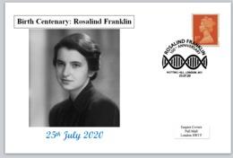 2020 Birth Centenary Rosalind Franklin Postal Card Chemistry Physics - FDC