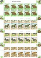 Moldova 2001 .Fauna (Zoo). 4 M/S Of 10 . Michel # 397-400  KB - Moldavia
