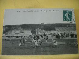 62 984 CPA 1912 - BOULOGNE SUR MER. LA PLAGE ET LES FALAISES - ANIMATION - Boulogne Sur Mer