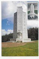 (RECTO / VERSO) PINOLS EN 1982 - MONUMENT NATIONNAL DU MONT MOUCHET - BEAU TIMBRE ET FLAMME AU DOS - CPM GF NON VOYAGEE - Francia