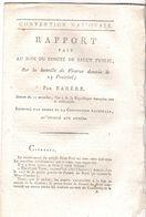 Rapport De Barrère Sur La Bataille De Fleurus 1793 - Documents Historiques