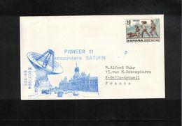 Spain Pioneer 11 Encounters Saturn Interesting Letter - Concorde
