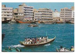 UAE , DUBAI POSTCARD ,VIEW CARD NEW PASSENGERS CROSSING THE CREEK OF DUBAI - Emiratos Arábes Unidos