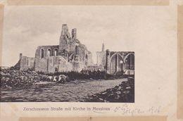 AK Messines Mesen - Zerstörte Straße Mit Kirche In Messines - 1916 (51426) - Messines - Mesen