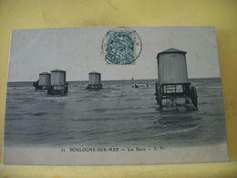 62 996 CPA - BOULOGNE SUR MER. LES BAINS  - ANIMATION. CABINES DE BAIN - Boulogne Sur Mer
