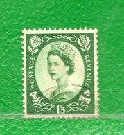 21 Gran Bretaña  1952-54  Yvert 276  -Usado,Used,Usato. - 1952-.... (Elisabetta II)