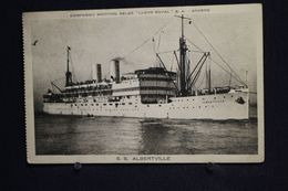 "I-60 / Compagnie Maritime Belge "" Lloyd Royal "" S. A. Anvers - S.S. Albertville / Circulé  19? - Antwerpen"