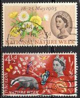 GRANDE BRETAGNE N° 373 Et 374 O Y&T 1963 Semaine De La Nature - 1952-.... (Elisabetta II)