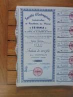 MAROC - RABAT 1948 - LOT DE 10 TITRES - INDUSTRIELLES ET ROUTIERES AU MAROS : SEIRMA - ACTION 500 FRS - Actions & Titres
