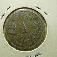 West Africa 1 Franc 1944 - Monedas