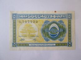 Rare! Lebanon 5 Piastres 1948 Banknote - Liban