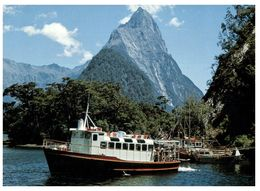 (G 18) New Zealand - Mitre Peak (with Ship) - New Zealand