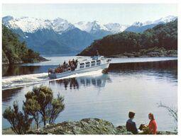 (G 18) New Zealand - Lake Manapouri (with Ship) - New Zealand