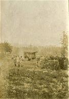 5 PHOTOS FRANÇAISES - INSPECTION DU GENERAL D'ALBI AU PARC D'ARTILLERIE DE CHELLES - OISE  GUERRE 1914 1918 - 1914-18