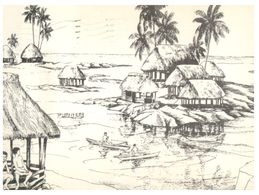 (G 18) USA - Samoa Painting - Posted To Australia - Amerikanisch Samoa