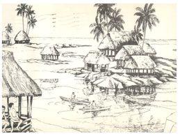 (G 18) USA - Samoa Painting - Posted To Australia - American Samoa