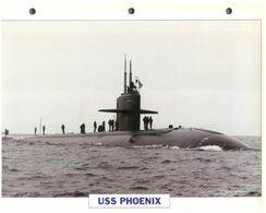 (25 X 19 Cm) C - Photo And Info Sheet On Warship - USS Phoenix (Submarine) - Boats