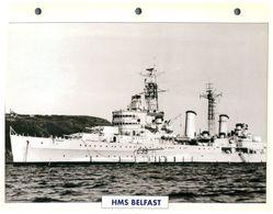(25 X 19 Cm) C - Photo And Info Sheet On Warship - HMS Belfast - Bateaux