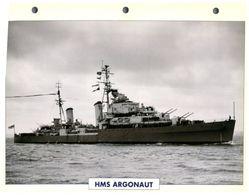 (25 X 19 Cm) C - Photo And Info Sheet On Warship - HMS Argonaut - Bateaux