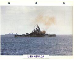 (25 X 19 Cm) C - Photo And Info Sheet On Warship - USS Nevada - Bateaux