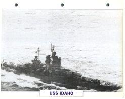 (25 X 19 Cm) C - Photo And Info Sheet On Warship - USS Idaho - Bateaux