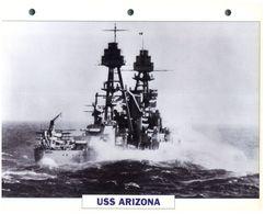 (25 X 19 Cm) C - Photo And Info Sheet On Warship - USS Arizona - Bateaux