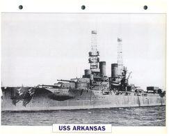 (25 X 19 Cm) C - Photo And Info Sheet On Warship - USS Arkansas - Bateaux