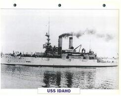 (25 X 19 Cm) C - Photo And Info Sheet On Warship - USS Idao - Bateaux