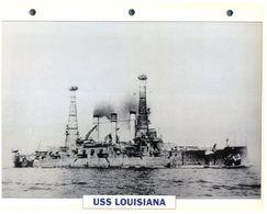 (25 X 19 Cm) C - Photo And Info Sheet On Warship - USS Louisiana - Bateaux