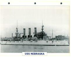 (25 X 19 Cm) C - Photo And Info Sheet On Warship - USS Nebraska - Bateaux