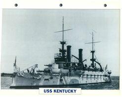 (25 X 19 Cm) C - Photo And Info Sheet On Warship - USS Kentucky - Bateaux