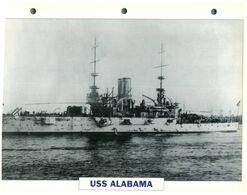 (25 X 19 Cm) C - Photo And Info Sheet On Warship - USS Alabama - Bateaux