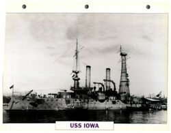 (25 X 19 Cm) C - Photo And Info Sheet On Warship - USS Iowa - Bateaux