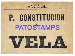139304 ARGENTINA BUENOS AIRES P. CONSTITUCION A VELA TICKET TRAIN TREN NO POSTAL POSTCARD - Biglietti Di Trasporto