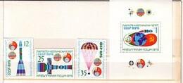1979 SPACE Bulgaria / Ussr 3v.+ S/S- MNH  Perf.BULGARIA / Bulgarie - Unused Stamps