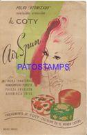 139313 ARGENTINA PUBLICITY AIR SPUM COTY POLVO ATOMIZADOR NO POSTAL POSTCARD - Advertising