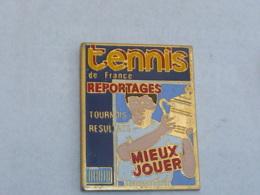 Pin's JOURNAL TENNIS DE FRANCE - Tennis