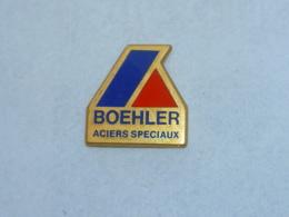 Pin's BOEHLER, ACIERS SPECIAUX, Signe ARTHUS BERTRAND - Arthus Bertrand