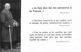 """Philippe PETAIN - MARECHAL DE FRANCE CARTE PHOTO """"JE FAIS DON DE MA PERSONNE à La FRANCE"""" - Guerra 1939-45"""
