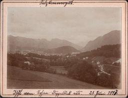 ! 4 Alte Fotos Auf Hartpappe, Photos, Salzkammergut, Mondsee, Ischl, St. Wolfgang, Österreich, 1897, Format 9 X 12 Cm - Autriche