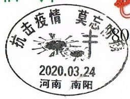 This Is CTO COVID-19 Special Postal Slogan Postmark. This Postcard Is Stamped With China Henan Nanyang Post Office. - China