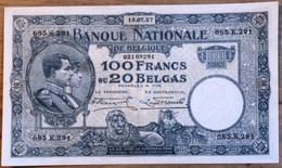 100 Francs Nationale Reeks 18/07/27!! Zeer Mooi Biljet!! 9291 - 100 Francs & 100 Francs-20 Belgas