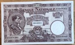 100 Francs Nationale Reeks Paars 1924 UNC!! Stacquet - Hautain!! Zeldzaam In Deze Kwaliteit!! Verzamelstuk!! 6064 - 100 Francs & 100 Francs-20 Belgas