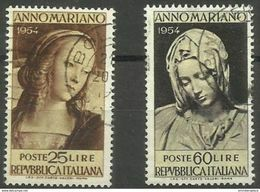 Italy - 1954 Marian Year  Used    SG 877-8  Sc 663-4 - 1946-60: Afgestempeld