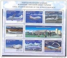 2008. Kyrgyzstan, History Of Civil Aviation, Issue II,sheeltet, Mint/** - Kyrgyzstan