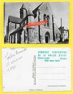 CPSM 27 PACY Sur EURE  ♥️♥️☺♦♦ Eglise Rues Animées ( Dos Tampon Office Du Tourisme ) ֎ - Pacy-sur-Eure